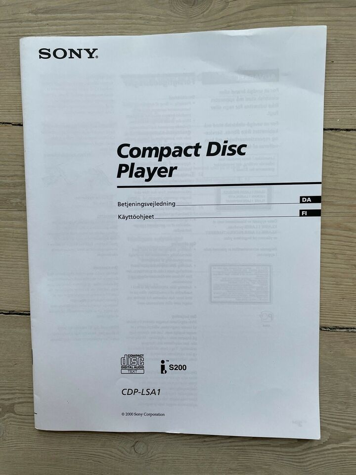 CD afspiller, Sony, LISSA CDP