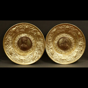 PAIRE-D-039-IMPORTANTS-PLATS-STYLE-RENAISSANCE-XIXe-PAIR-OF-GRAND-DISHES-XIXth