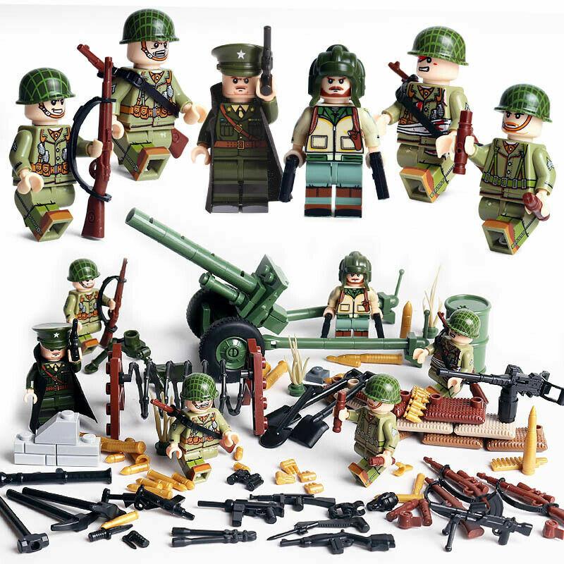 NEU Minifiguren 19 WW2 Sowjet Rote Armee Russland Militär LEGO kompatibel