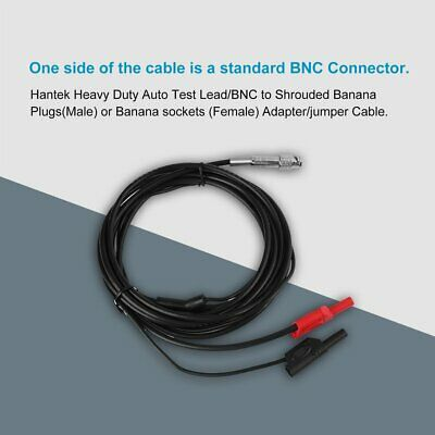 Heavy Duty Auto Test Line Lead,3 Meter HT30A BNC Banana Adapter to Banana Head Adapter Cable