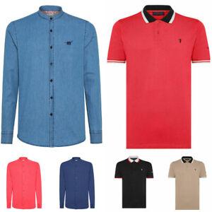Polo-TRUSSARDI-o-camicia-HENRY-COTTON-039-S-uomo-cotone-lino-casual-sportiva