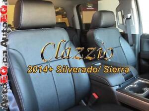 Clazzio Synthetic Leather Seat Covers (Front + Rear Rows) | 2007-2020 Chevy Silverado GMC Sierra Canada Preview