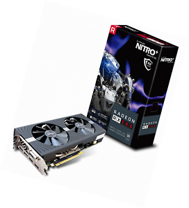 DVI-D Dual Sapphire 11265-01-20G Radeon Nitro RX 580 8GB GDDR5 Dual HDMI