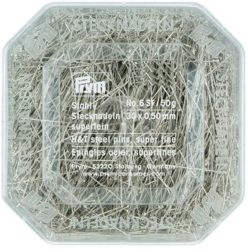 16.20 EUR//100g PRYM Stecknadeln Superfein 0,50 x 30 mm 50g