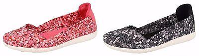 Damen, Die Auf Die Erde Slip On Schuhe UK Größen 3-8 F80218