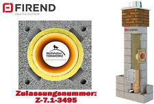 Schornstein Bausatz 6,62 m DN 20 mit Z- Schacht  Kamin Keramik Massiv 3-schalig