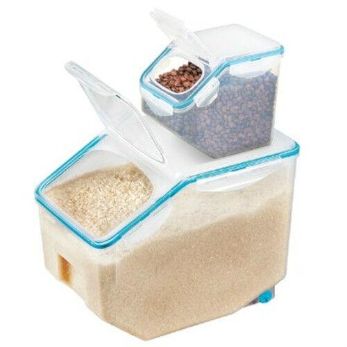 +2.5kg Lock /& Lock Rice Grain Storage Containers 10kg 3L //12L// 5L Candy Bin 12L
