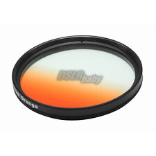 52mm Gradual Orange Color Conversion Lens Filter Screw Mount for DSLR Camera M52