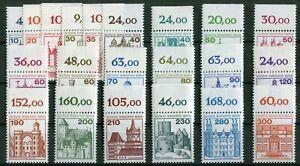 Berlin-Burgen-und-Schloesser-postfrisch-komplett-Oberrand-532-540-587-590-673-677