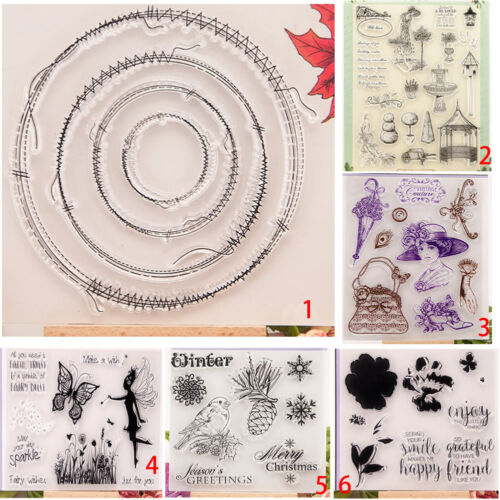 Transparent Silicone Stamp Clear Cling Seal Scrapbook DIY Embossing Album Decor