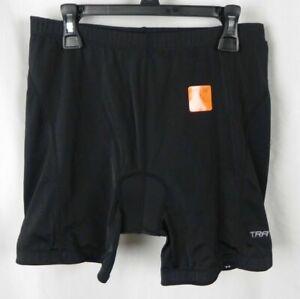 New Trayl Women/'s Foam Padded Cycling Dri-Logic Shorts Black UPF 50 G1-55
