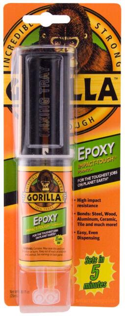 Gorilla Glue Epoxy Incredibly Strong Impact Tough Formula Reusable Syringe