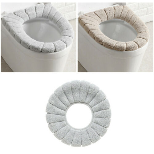 Washable Bathroom Toilet Seat Filling Soft Warmer Mat Cover Pad Cushion Home Dec