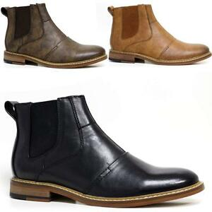 Mens-Chelsea-Boots-Smart-Formal-Ankle-Army-Military-Combat-Shoes-Size