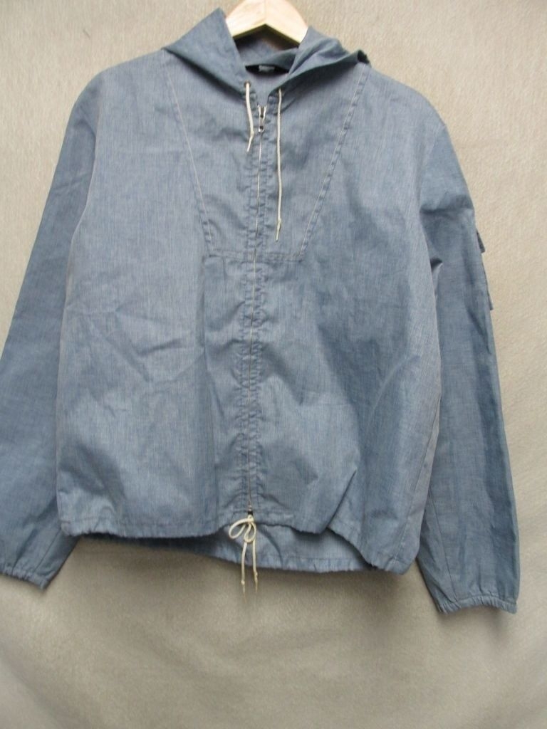 V5003 Sportswear 70's Hooded Zip Fly Windbreaker Boat Coat Men L