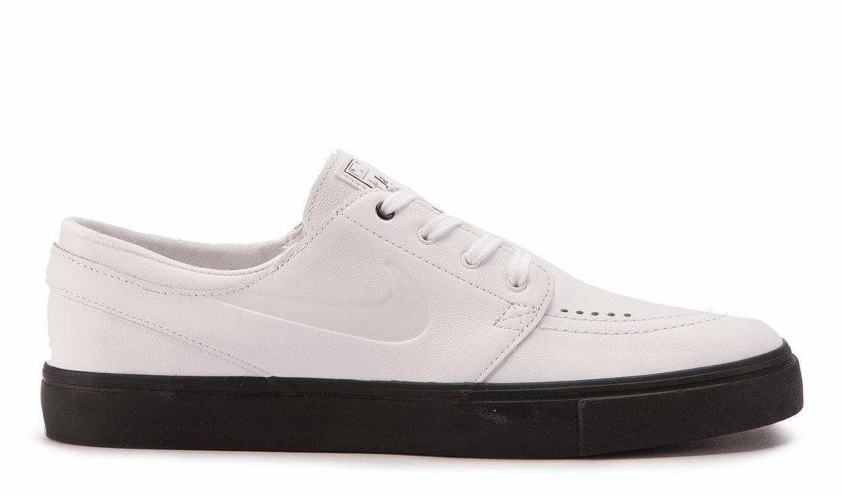 Nike SB Zoom Janoski Prem CPSL White Black Skate Shoe 877066 111 Size 9 WMS 10.5