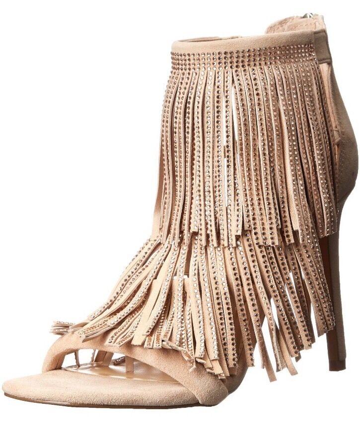 NIB Steve Madden Fringly Blush (Nude) Dress Sandal/Stiletto B Size 8.5