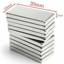N52 1 50pcs 20x10x2mm Neodymium Block Magnet Super Strong Rare Earth Magnets Lot