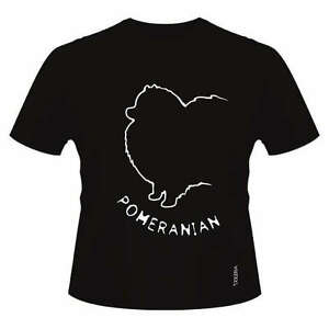 5a226a2a8 Pomeranian Dog Breed T-Shirts, Round-Neck Style, Dogeria Design ...