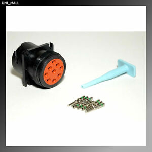 Details about Deutsch HD10 9-Pin SAE J1939 Black Male Connector kit,  14-16AWG Solid Pins, USA