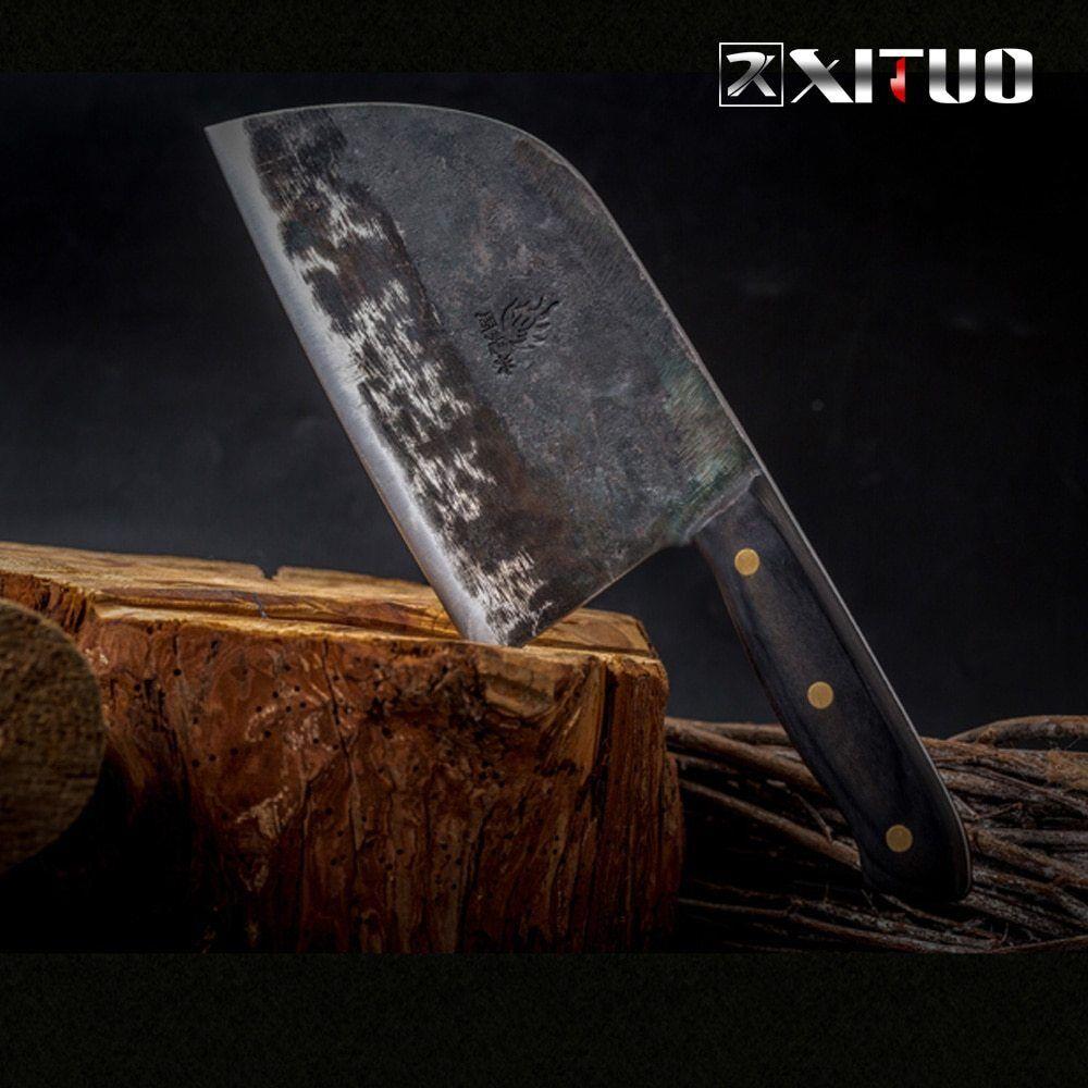 XITUO Pleine Saveur Chef Couteau À La Main Forgé Haute teneur en Cochebone Acier