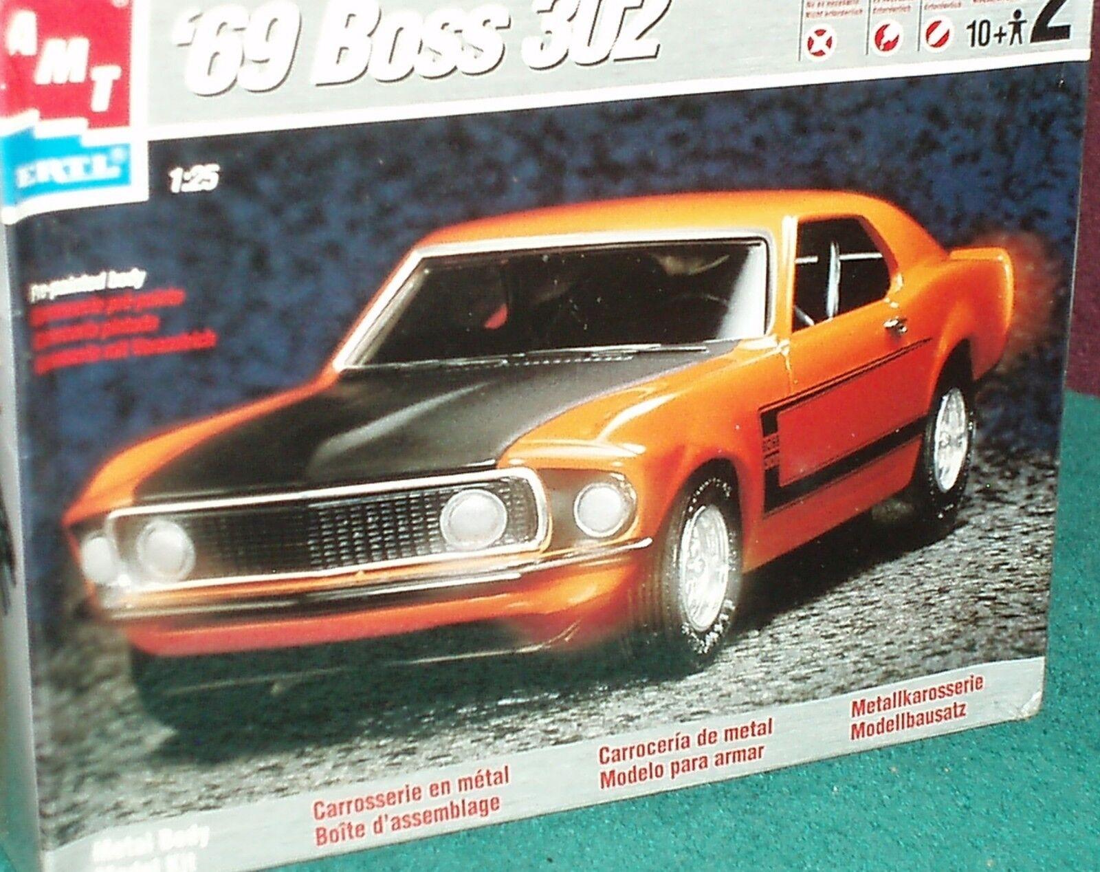 barato en alta calidad Juguetes Modelo De De De Aluminio 1969 jefe 302 Ford Mustang Diecast Modelo Kit 1 25 nivel de habilidad 2  venta