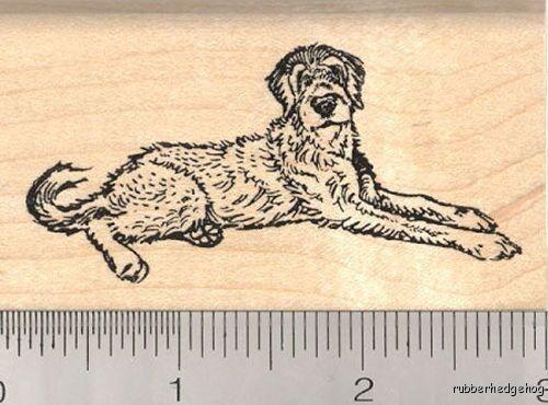 Irish Wolf hound rubber stamp H12102 WM Dog Puppy