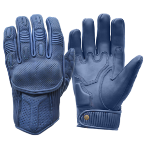 Goldtop Silk Unlined Blue Leather Summer Motorcycle Gloves Knox Armoured Ebay