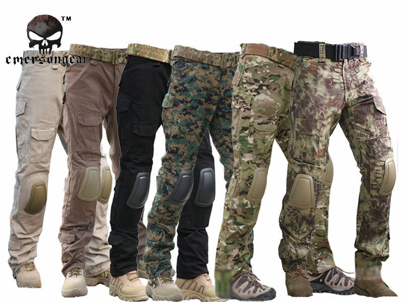 2019Tactical Pants with Knee Pads  Emerson Gen2 Camping Hiking Hunting Trousers