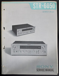 sony str 6050 original fm am stereo receiver service manual diagramimage is loading sony str 6050 original fm am stereo receiver