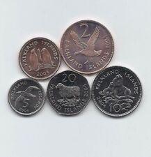 FALKLAND ISLANDS 2004 5 UNCIRCULATED COINS FAUNA SET 1 2 5 10 20 PENCE BIRDS LOT
