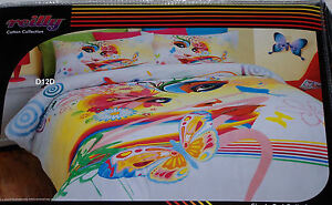 Reilly-Tiger-Urban-Art-Single-Bed-100-Cotton-Quilt-Cover-Set-New-Clearance