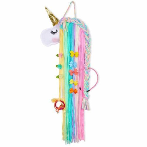 Unicorn Hair Bow Holder Organizer Girls Hair Clips Storage Organizer Bow Hanger