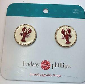 Lindsay-Phillips-Interchangeable-Beaded-Crabs-Shoe-Snaps-NEW