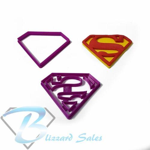 Superman Logo Cookie Fondant Cutter 5cm 7cm 10cm 13cm Set Birthday Cake