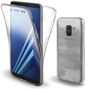 Pour Samsung Galaxy A8 2018 Coque Gel 360 avant + Arrière Protection INTEGRAL