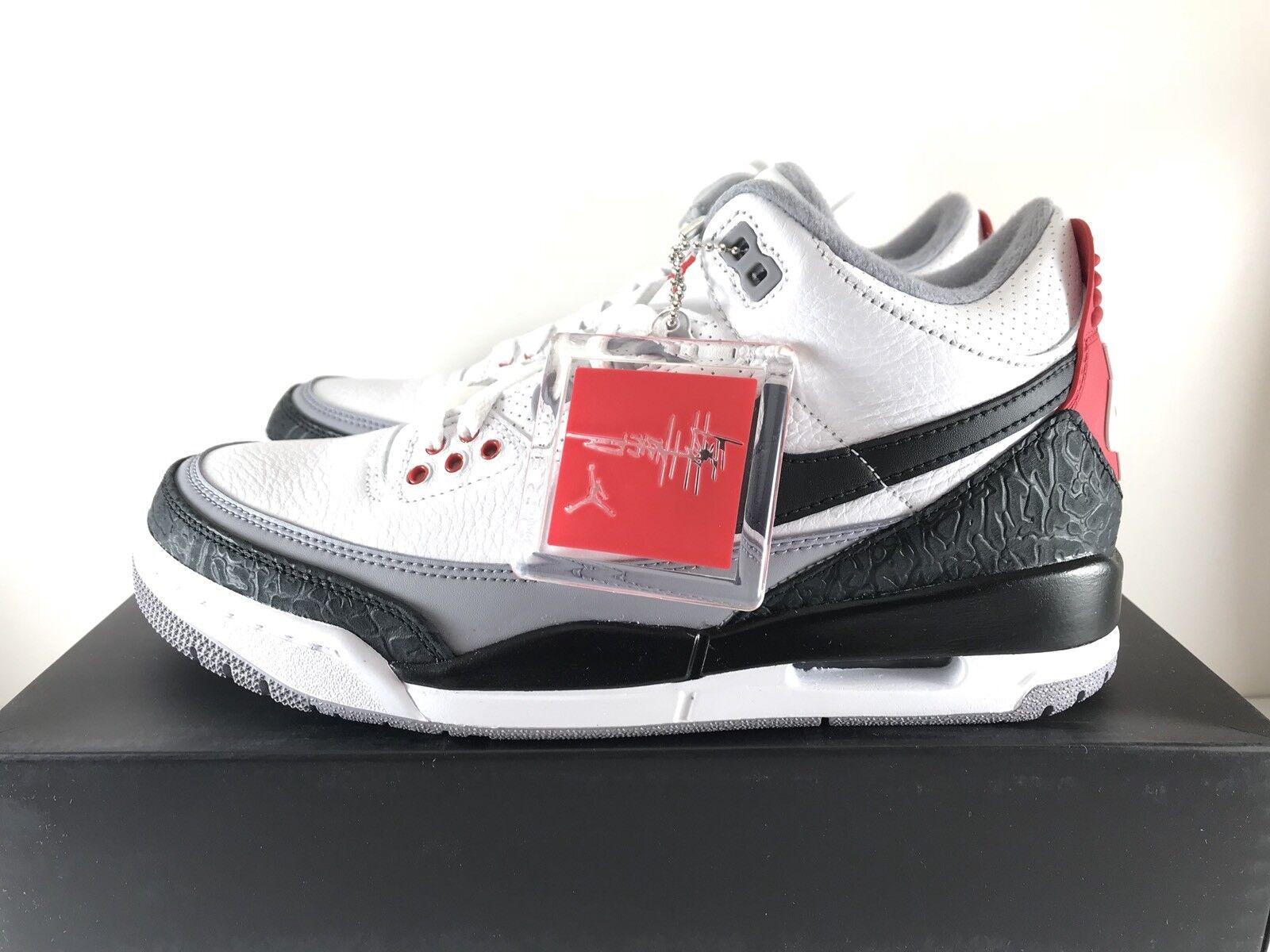 Nike Air Jordan Retro 3 NRG Tinker Hatfield Cement OG AQ3835-160 Mens Size 9
