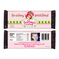 12 Strawberry Shortcake Birthday Party Favors Personalized Candy Wrappers