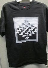"""M.C. Escher Black T-Shirt """"Sky and Water"""" Front only / Size medium"""