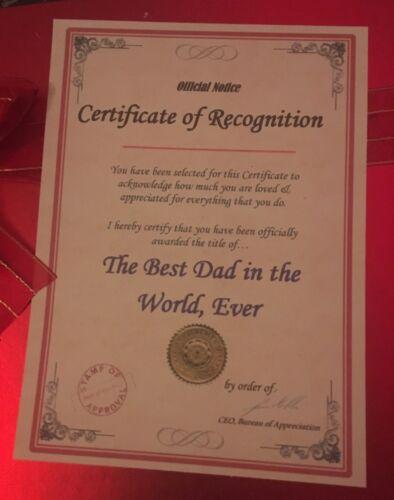 Inhabituel Noël Cadeau D/'Anniversaire Meilleur Papa Grand-père Mum Nan certificat actuel B