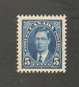 Canada #235 VF MNH - 1937 5c King George VI
