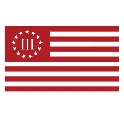 3 Percent Flag vinyl decal sticker for Car//Truck Window tablet mac 3/% patriot US
