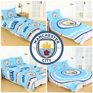 Manchester-City-Fc-Homme-Housse-De-Couette-Football-Ensemble-De-Lit-Simple-Double-Enfants-Adultes