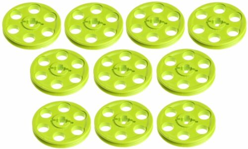 41845 NEW!!! Lego 10x Technic Lime Green Wedge Belt wheel