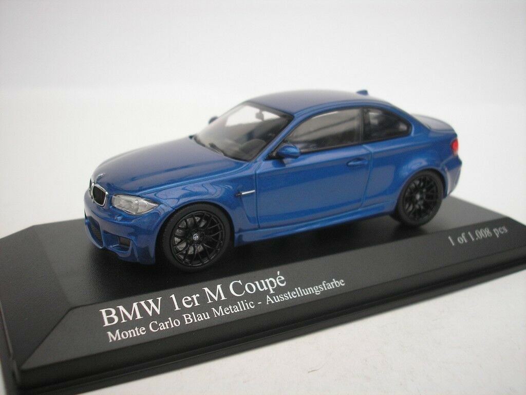 BMW 1 serie M Coupe 2011 blå metall 1  43 Minichamps 41000026 Ny