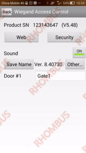TCP//IP 1 Door Browser Server B//S iOS Android Apple Mobile App Access Control