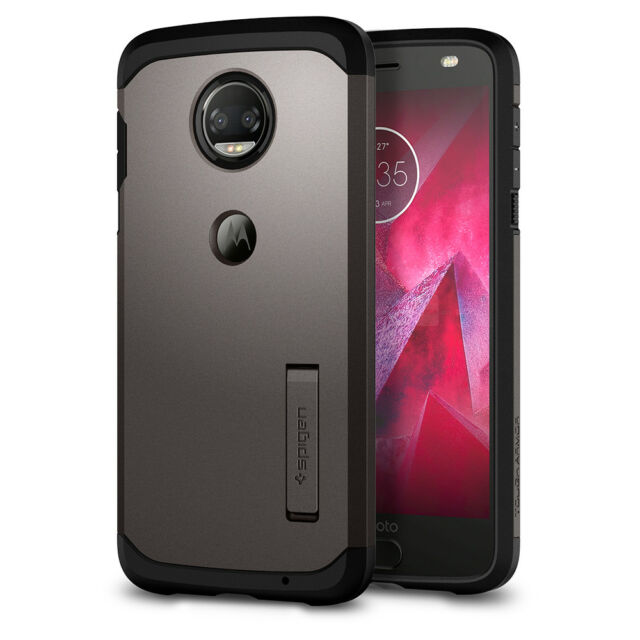 the latest 405dc 56a2c Spigen Tough Armor Moto Z2 Force Case With Kickstand and Extreme Heavy Duty  Air