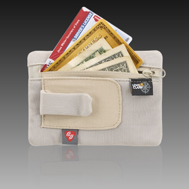 7999e14556fc RFID Clip on Stash Pouch Wallet Safe Travel Security ID Holder Lewis N Clark