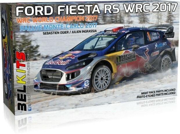 BELKITS 1 24 KIT AUTO FORD FIESTA RS WRC  RALLYE MONTE CARLO 2017   ART BEL-012