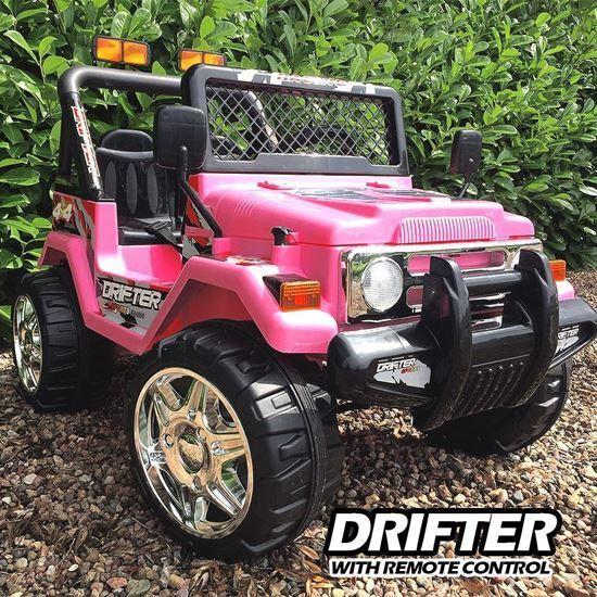 barn 12V Drifter Electric Ride on Bil 4X4 Jeep